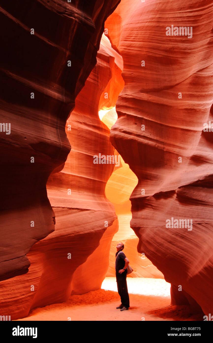 Der Antelope Canyon, Page, Arizona, Vereinigte Staaten von Amerika Stockbild