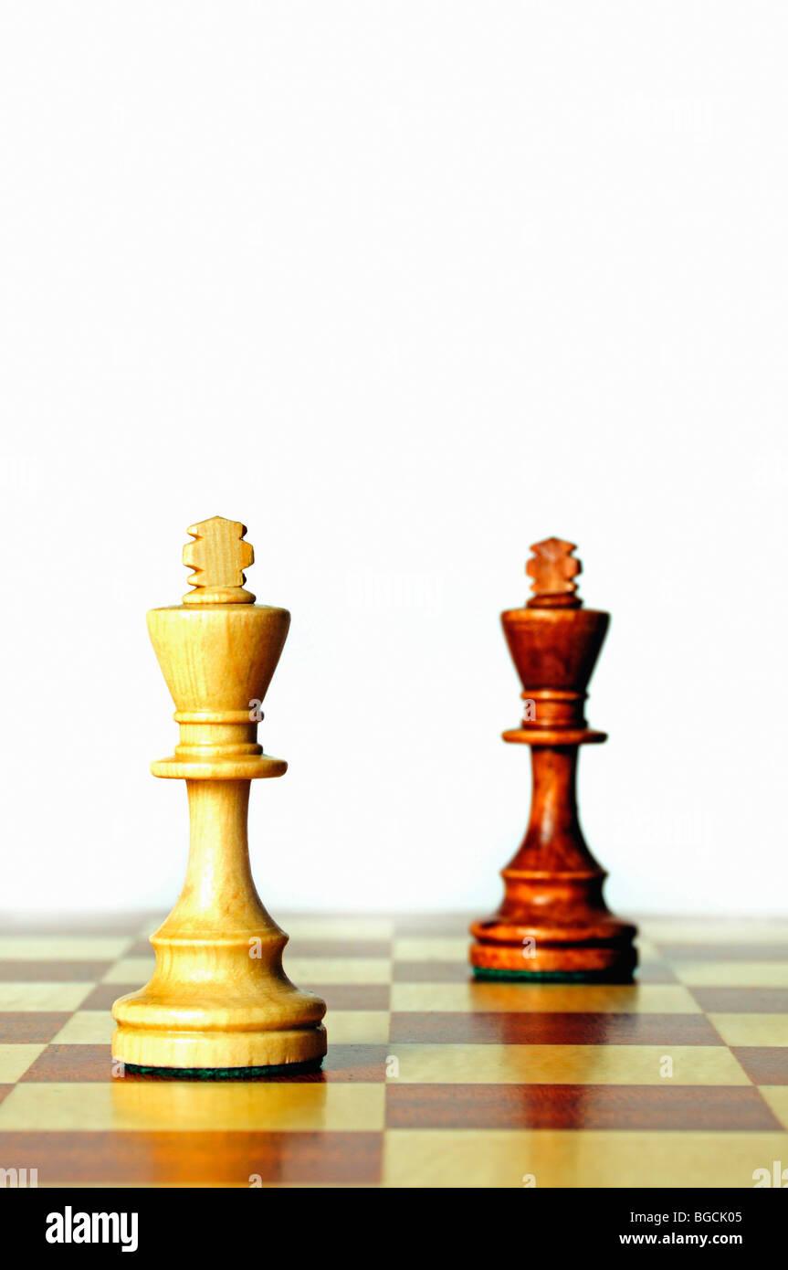Schach-Könige Stockbild