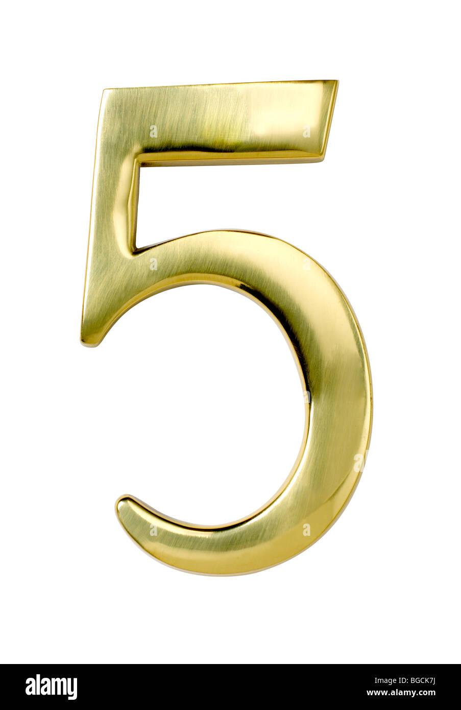 Nummer fünf 5 Stockbild