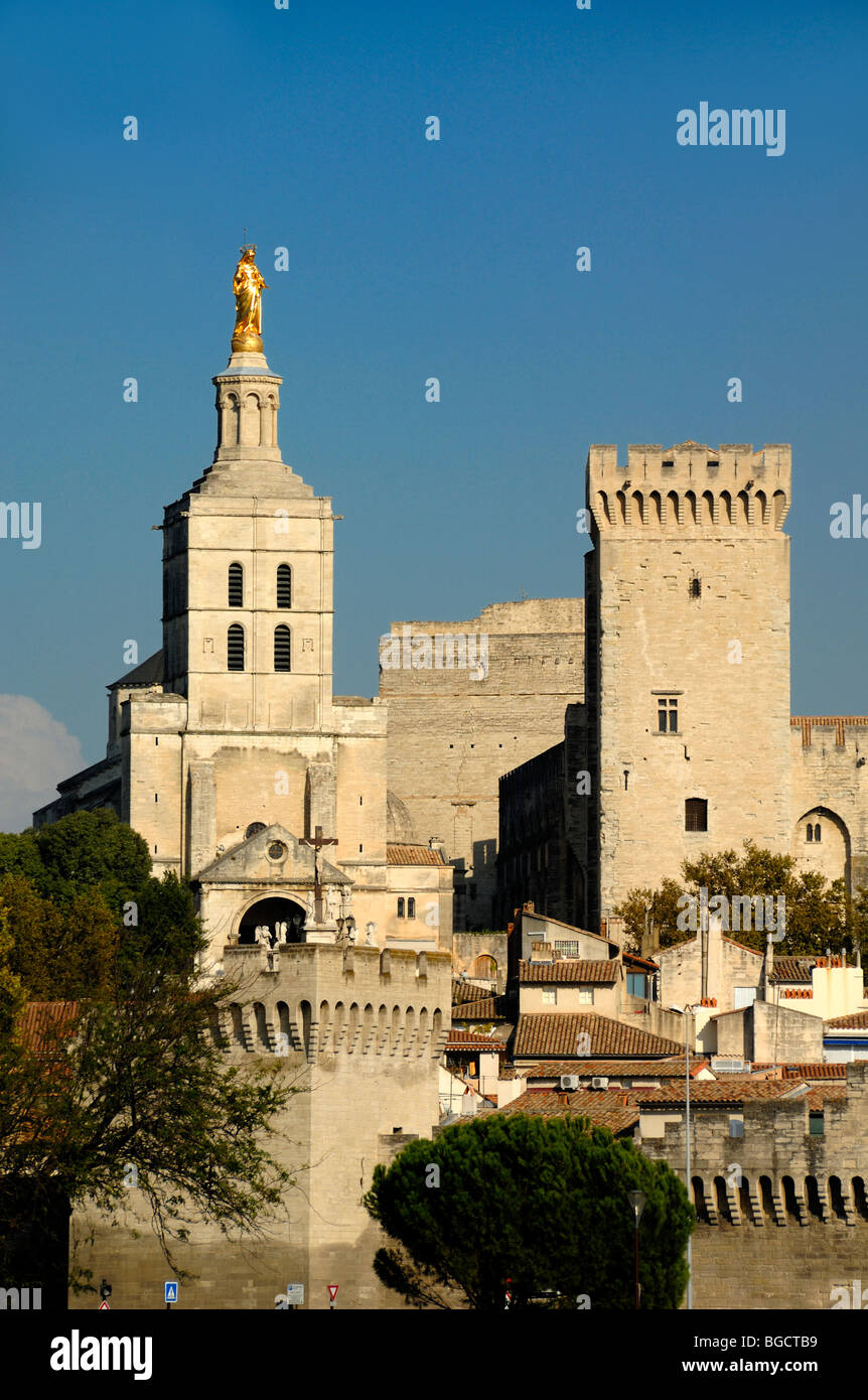 cathedral and palais des papes stockfotos cathedral and palais des papes bilder alamy. Black Bedroom Furniture Sets. Home Design Ideas
