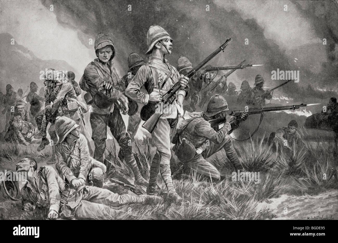 Grenadier Guards in der Schlacht von Biddulph Berg, 29. Mai 1900. Stockbild
