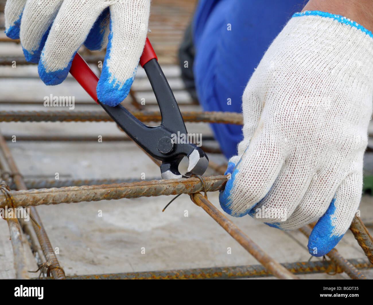Steel Reinforcement Bars Stockfotos & Steel Reinforcement Bars ...