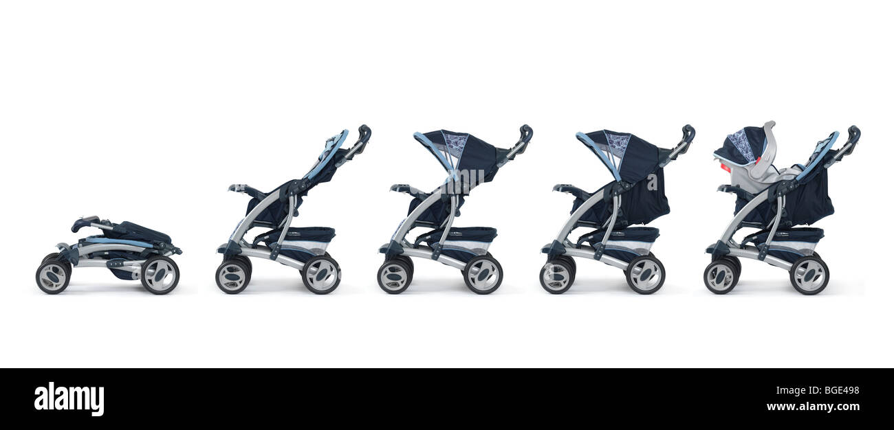 Good Modernen Cabrio Baby Kinderwagen Abfolge Von Bildern Isoliert Auf  Weiem Hintergrund With Bilder Von Modernen Bdern.