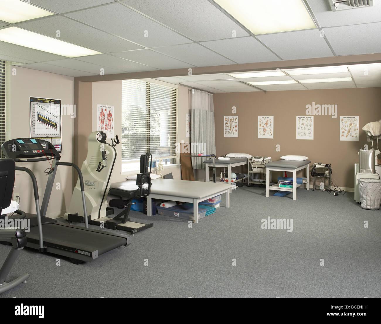 Physikalische Therapie-Fitnessraum, Philadelphia, USA Stockbild