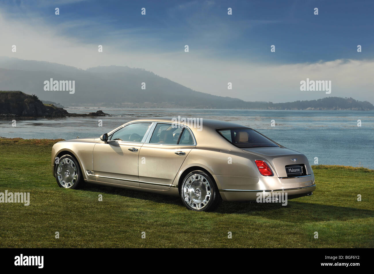 2009 Bentley Mulsanne bei Pebble Beach Concour de elegance Stockbild