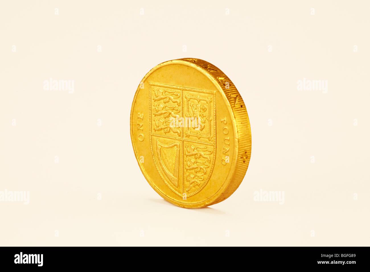Ein Pfund-Münze Stockbild
