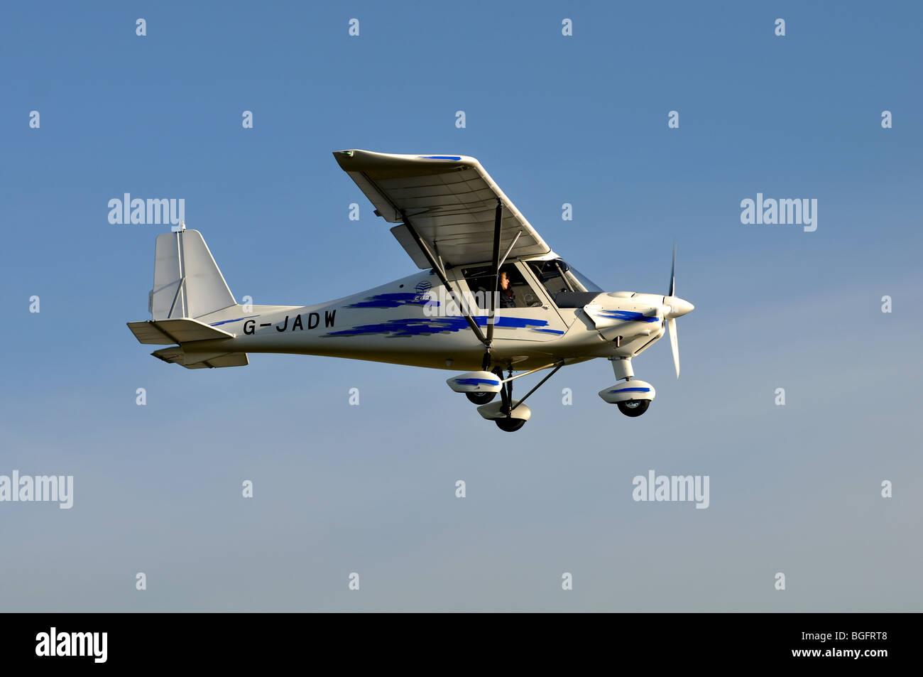 Ikarus C42 Flugzeug G Jadw Nahenden Wellesbourne Flugplatz