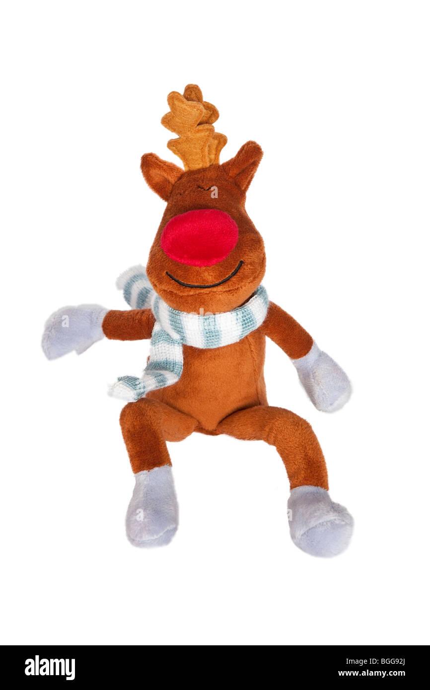Weihnachten-Rudolph das rote gerochene Kuscheltier Rentier Stockfoto ...