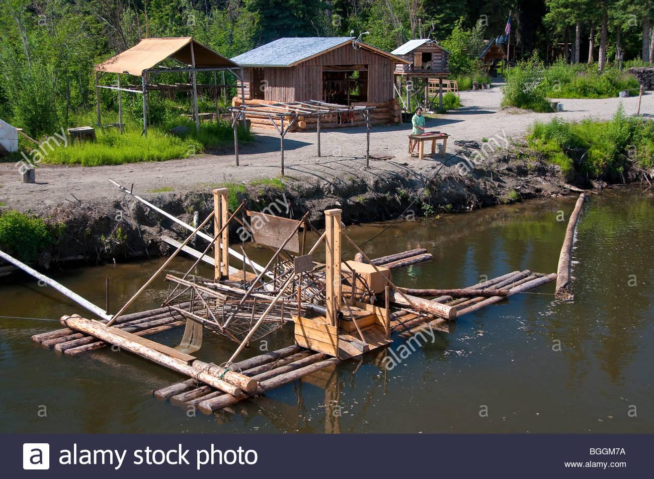 Alaska, Fairbanks. Schaufelrad Riverboat Entdeckungstour entlang der Chena River gibt Touristen einen Vorgeschmack Stockbild