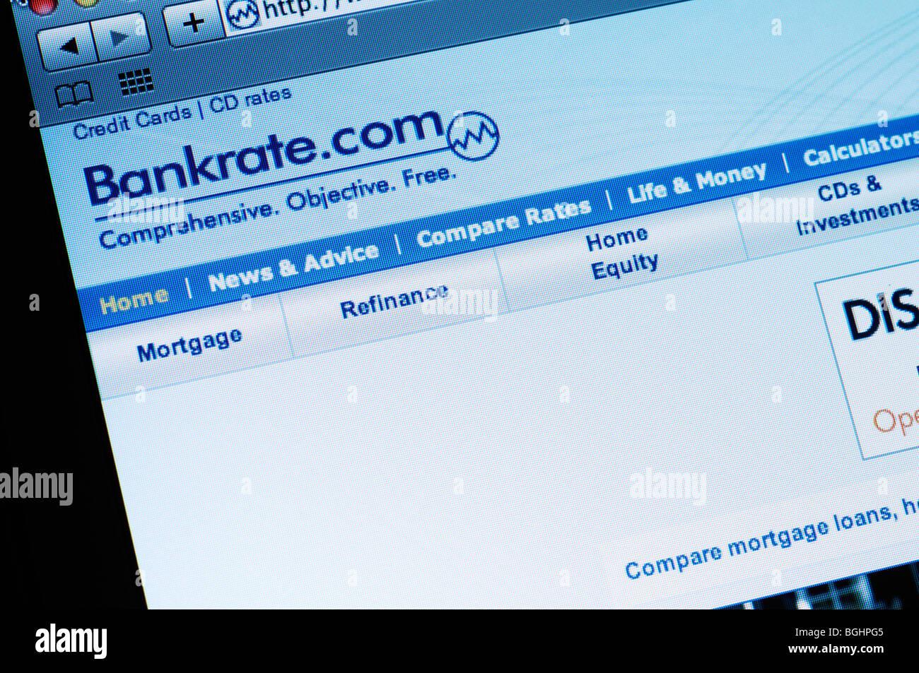 Bankrate.com Webseite Stockbild