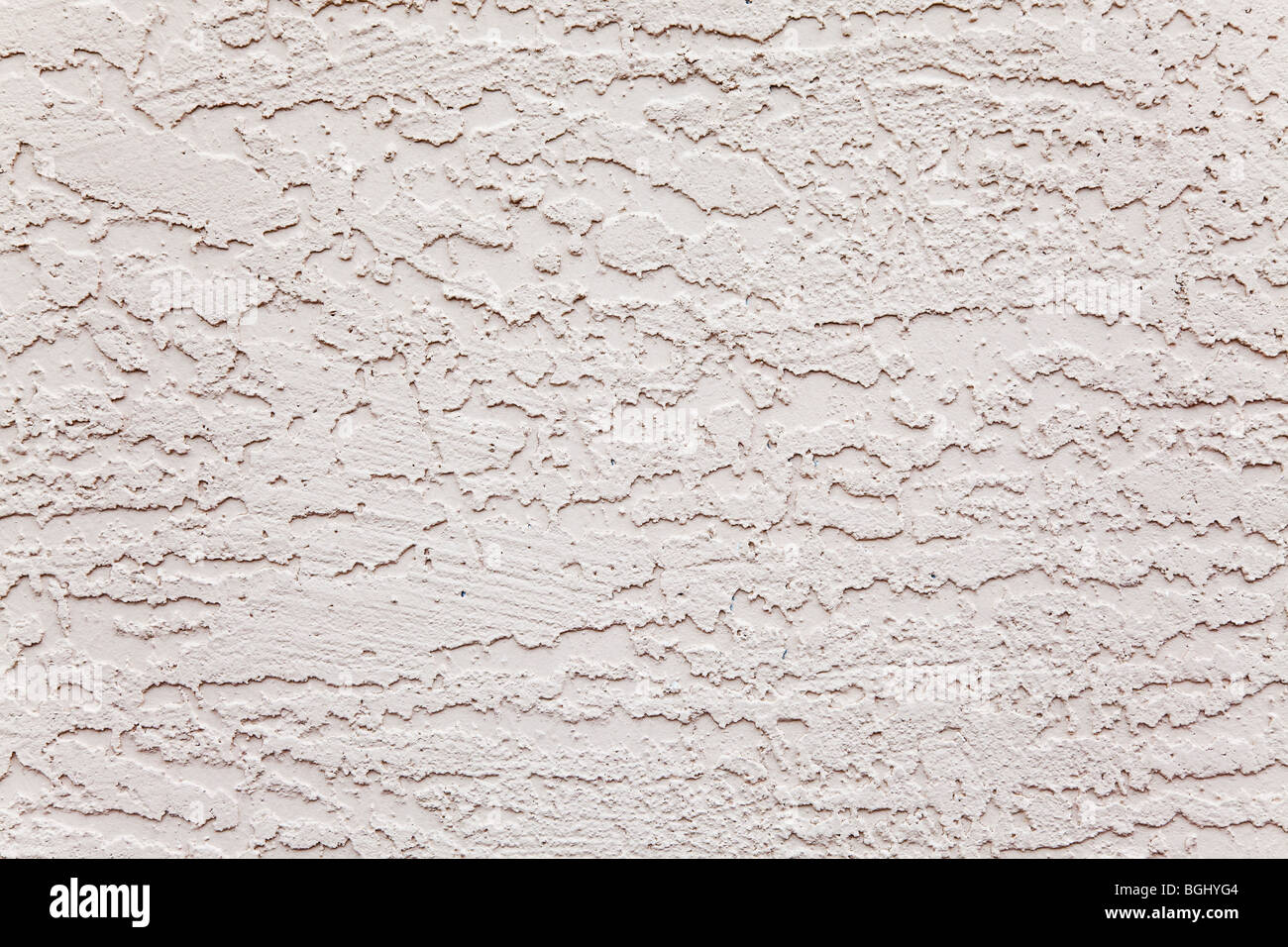 äußeren weißen Stuck Wand grobe Hintergrundmuster Stockbild