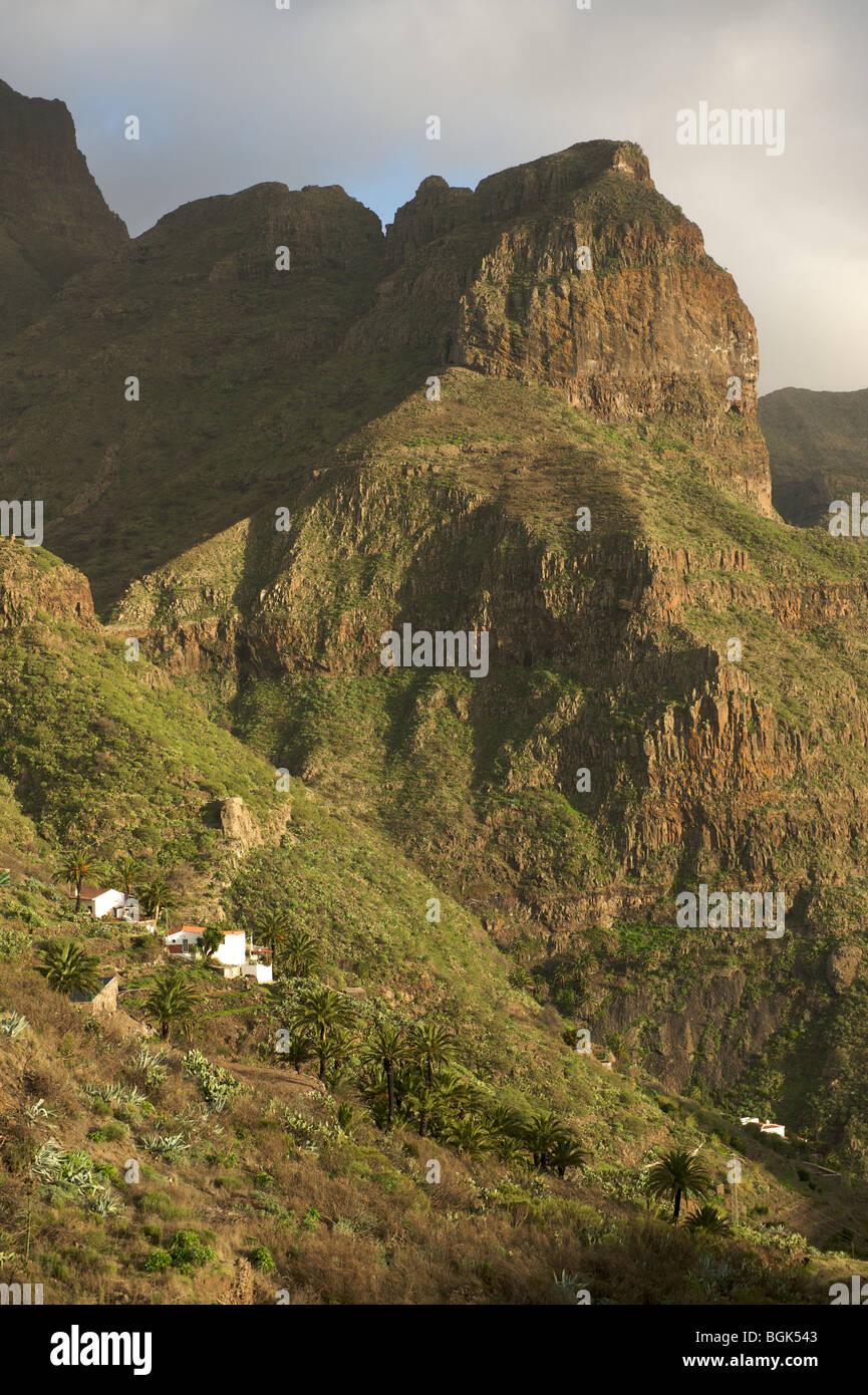 Wiew von Masca, Teneriffa, Kanarische Inseln Stockbild