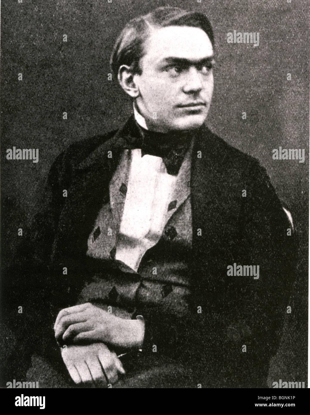 ALFRED NOBEL - schwedischer Chemiker, Erfinder des Dynamits und Gründer des Nobel Preise (1833-96) Stockbild