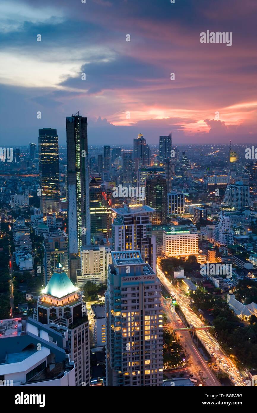 Geschäftsviertel, Bangkok, Thailand Stockbild