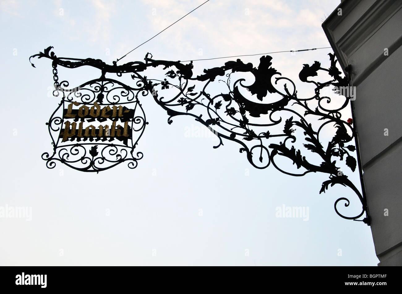 Lodenplankl, Wien, Österreich Stockfoto