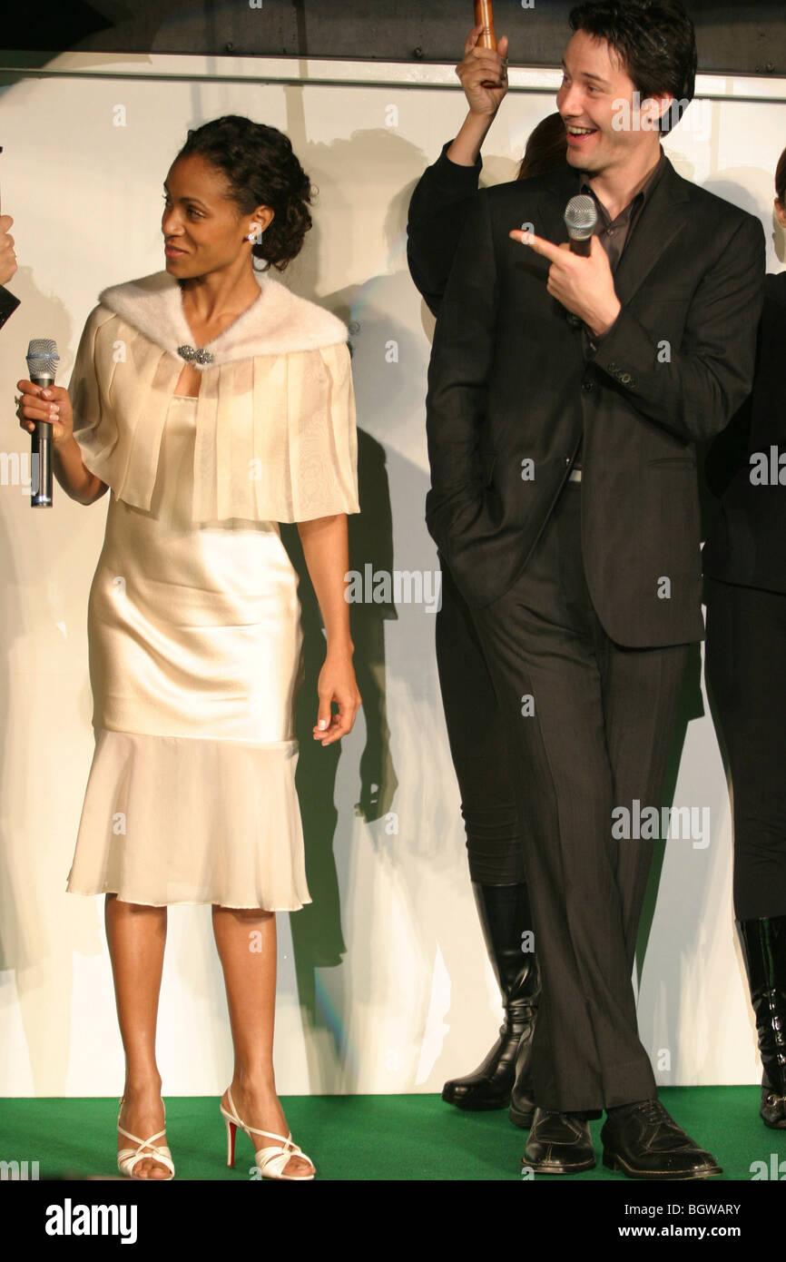 Kanadische amerikanische Schauspieler Keanu Reeves, Schauspielerin Jada Pinkett Smith, Welt-Uraufführung von The Stockfoto