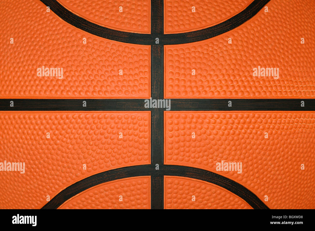 Basketball hautnah Stockfoto