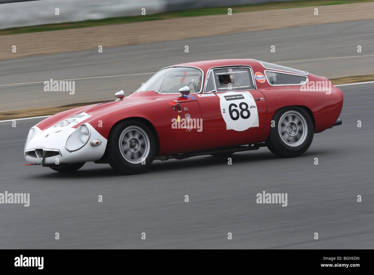 1964-Alfa Romeo TZ. Le Mans Classic Autorennen, Fuji Speedway, Japan, Sonntag, 11. November 2007. Stockbild