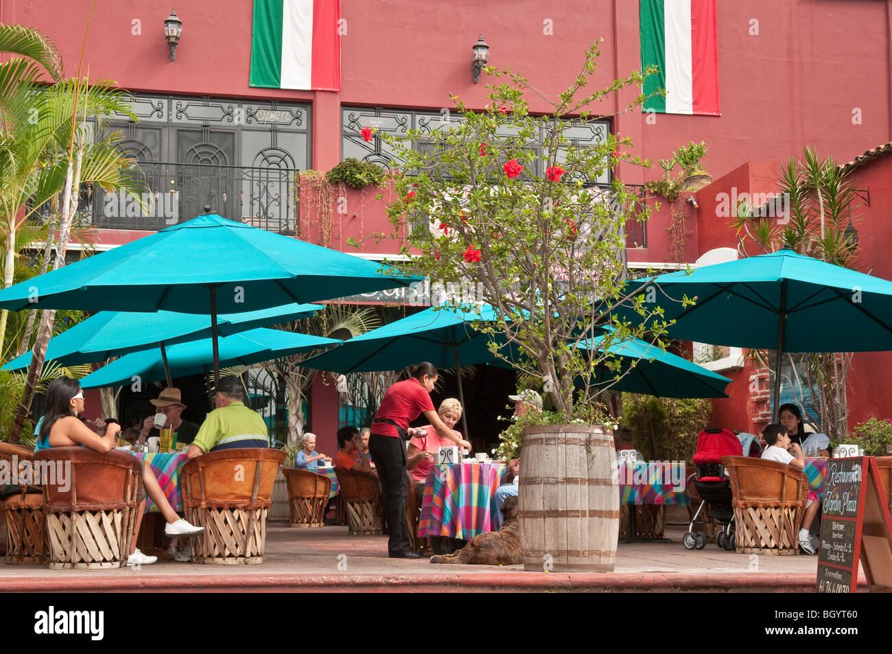 Restaurant Jardin Plaza in Ajijic, Lake Chapala Jalisco, Mexiko. Stockbild