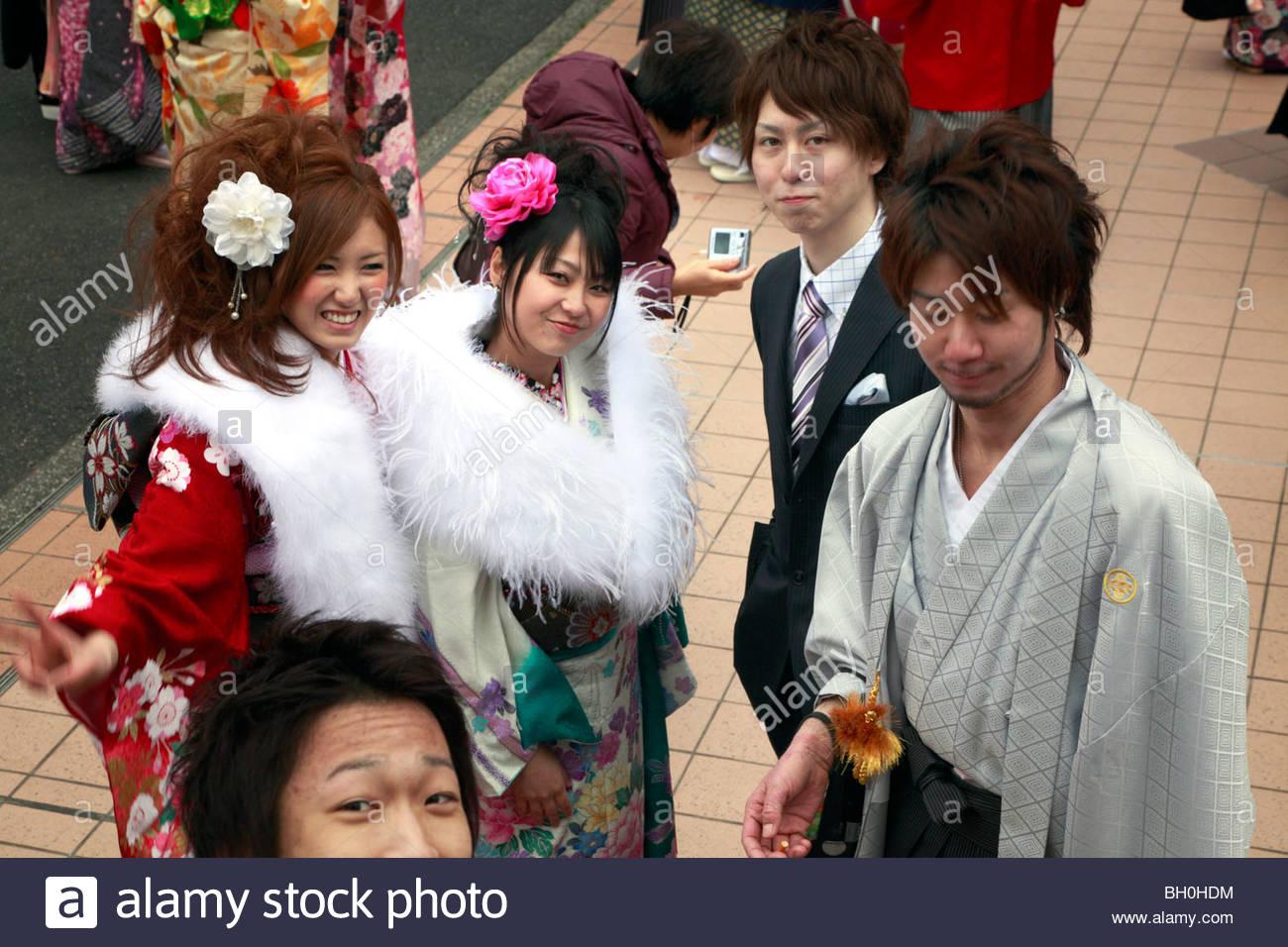 am Tag der Ankunft des Age Festival, Seijin nicht Hallo, Japan Stockbild
