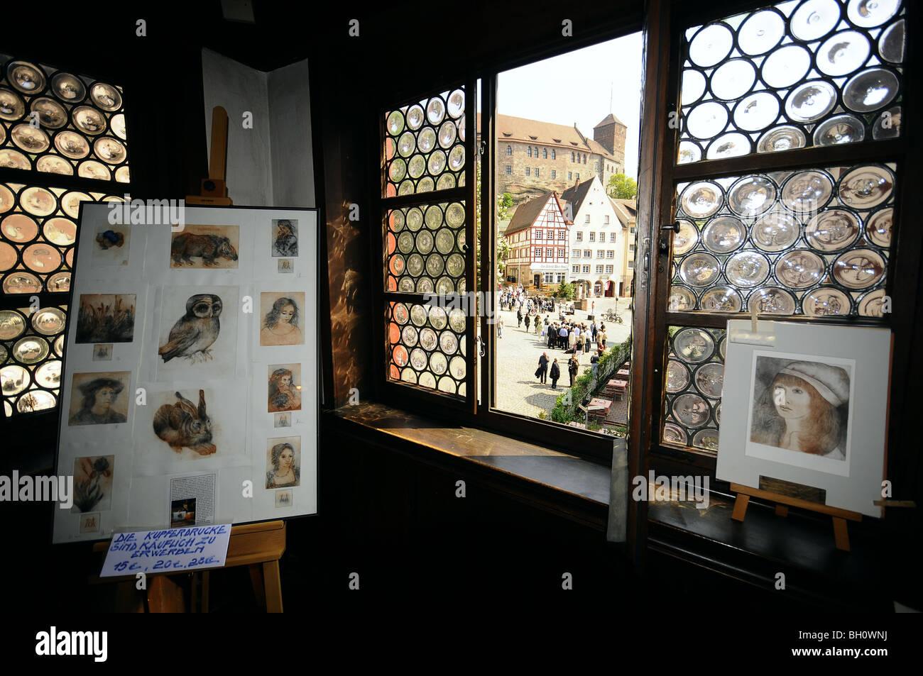 Ausstellung im Albrecht-Dürer-Haus, Nürnberg, Middle Franconia, Bayern, Deutschland Stockbild