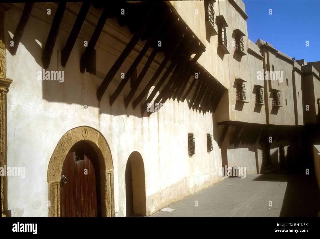 UN-Weltkulturerbe, restaurierte Häuser in der Kasbah von Algier, Algerien Stockbild
