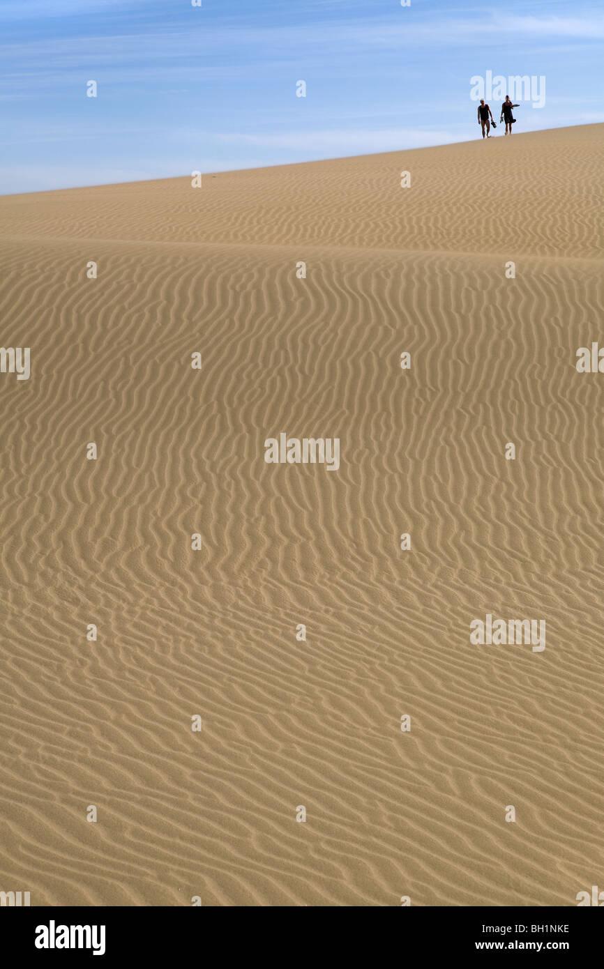 Europa, Spanien, Kanarische Inseln, Gran Canaria, Playa del Ingles, Dünen von Maspalomas, Stockbild
