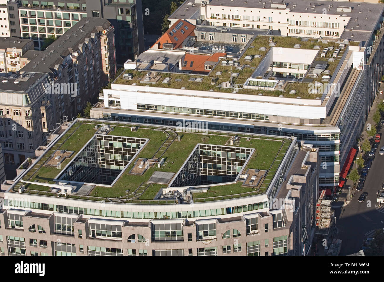 begrünten Dächern, Berlin-Mitte, Berlin Stockbild