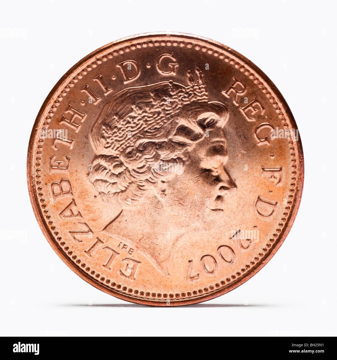 Zwei Britische Pence Münze Vorderansicht Stockfoto Bild 27707933