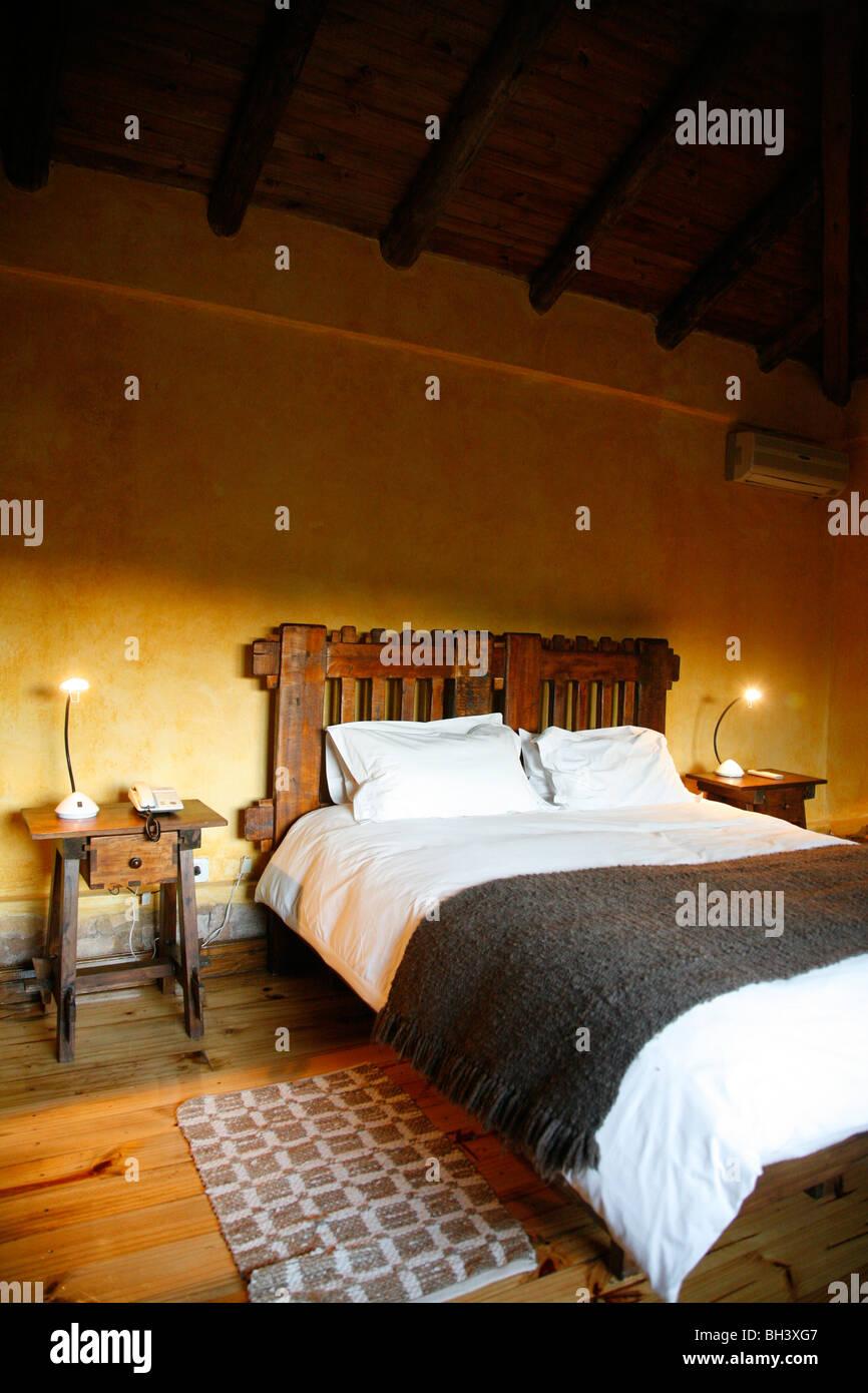 Zimmer im Hotel Finca Adalgisa, Mendoza, Argentinien. Stockbild