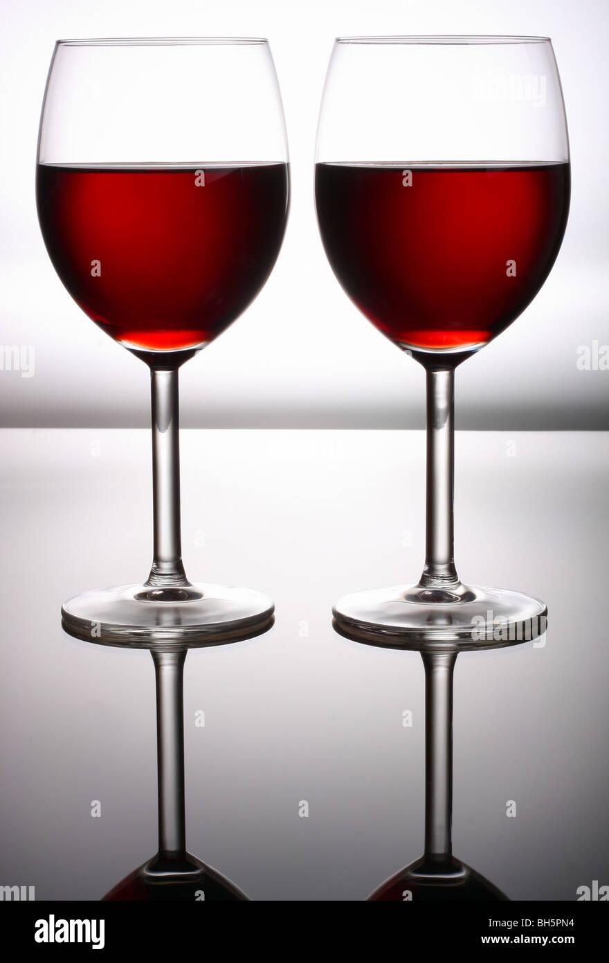 Rotwein Glas Stockbild