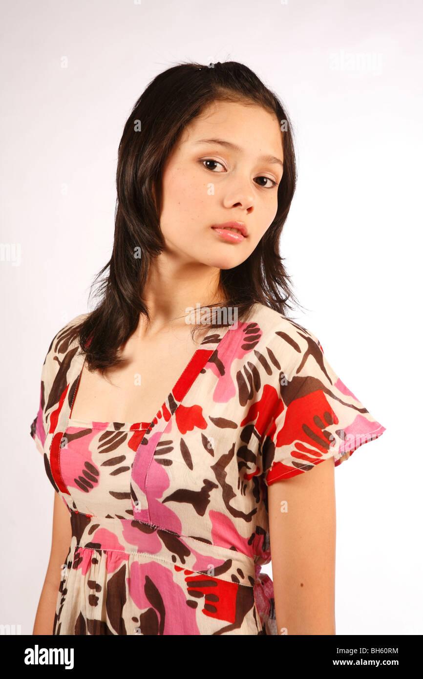 Portrait Eurasian Girl Stockfotos & Portrait Eurasian Girl Bilder ...