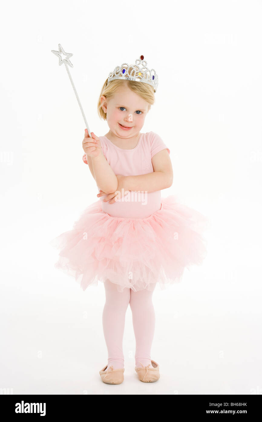 Kleines Mädchen als Fee verkleidet Stockbild