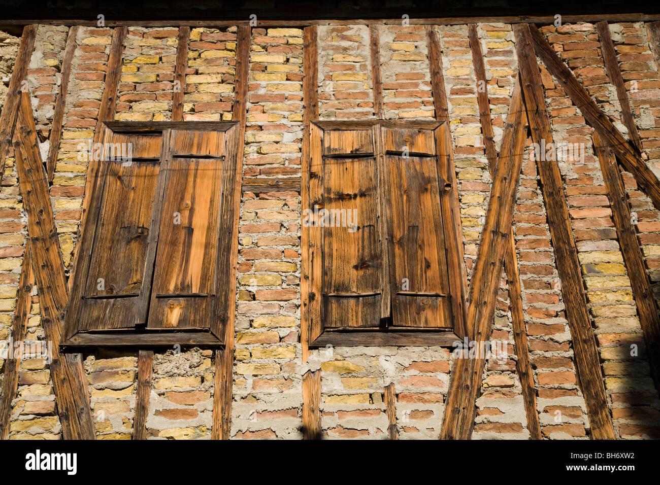 Architektonische Details von Safranbolu Häuser Türkei Stockbild