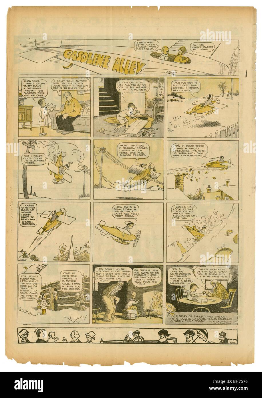 1927 Sonntag Comic-Strip, Gasoline Alley von Frank King. Stockbild