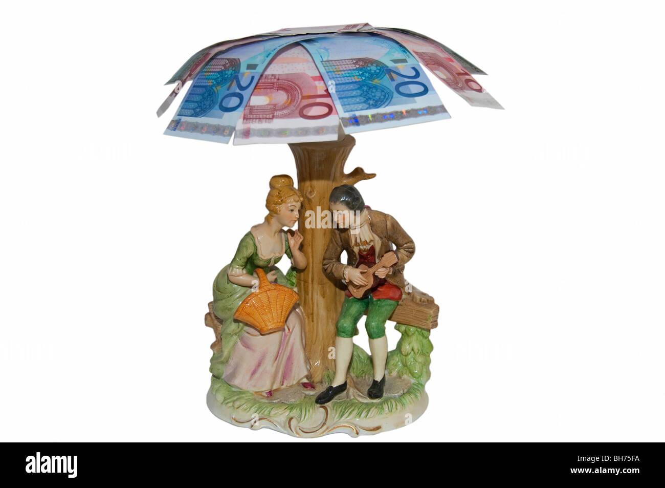 Finanzkonzept angenehmen Ruhestand reichen Euro Europäische Alter Stockbild