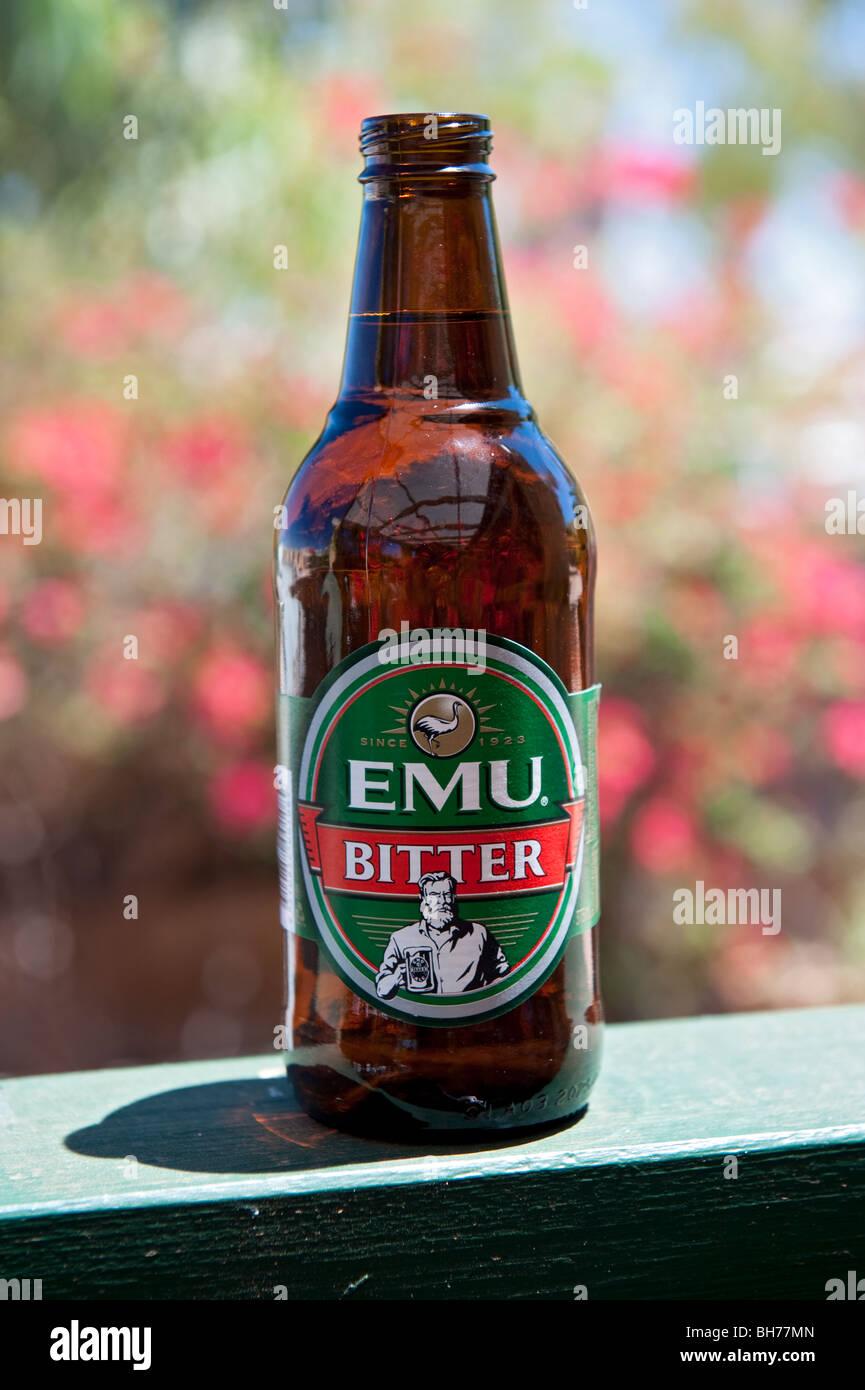 Kalte Flasche Emu Bitter, westlichen australischen Bier, Exmouth, Australien Stockbild
