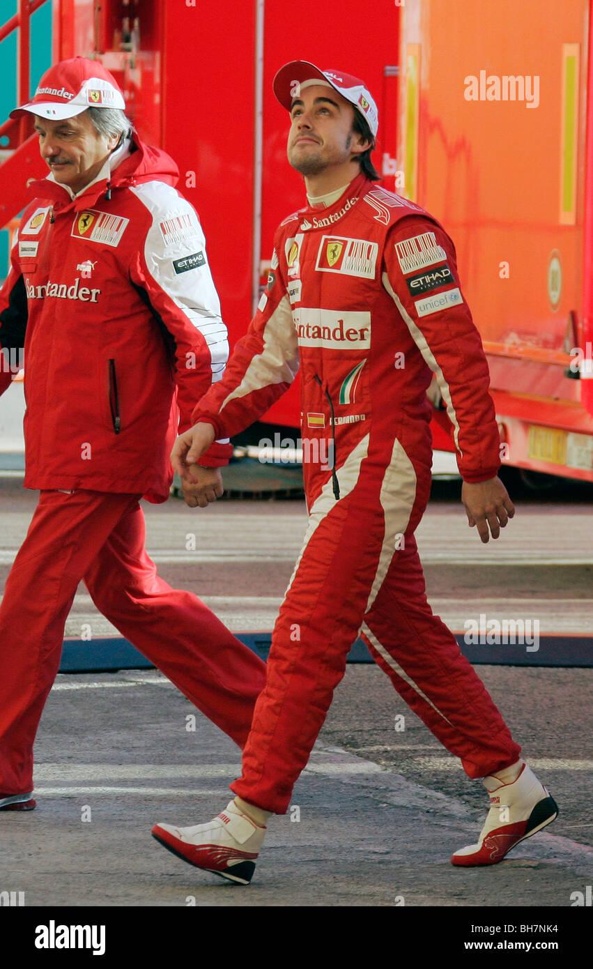 Fernando Alonso Rennstalls Ferrari F1 Stockfotografie Alamy