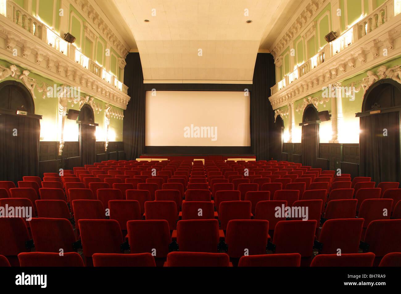 alten Kinosaal Stockbild