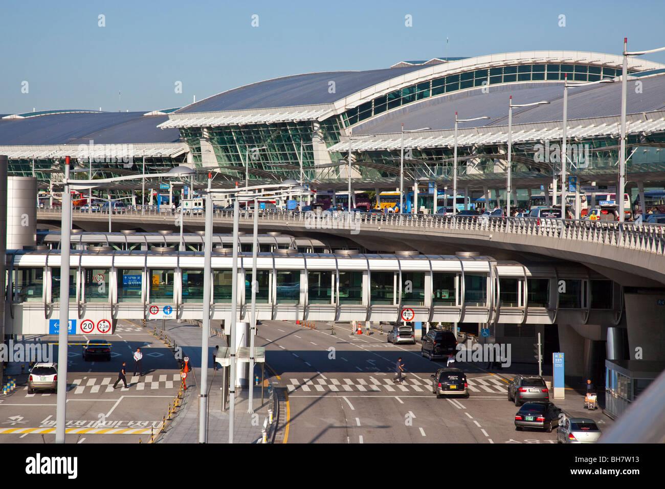 Incheon International Airport in Seoul Südkorea Stockfoto, Bild ...