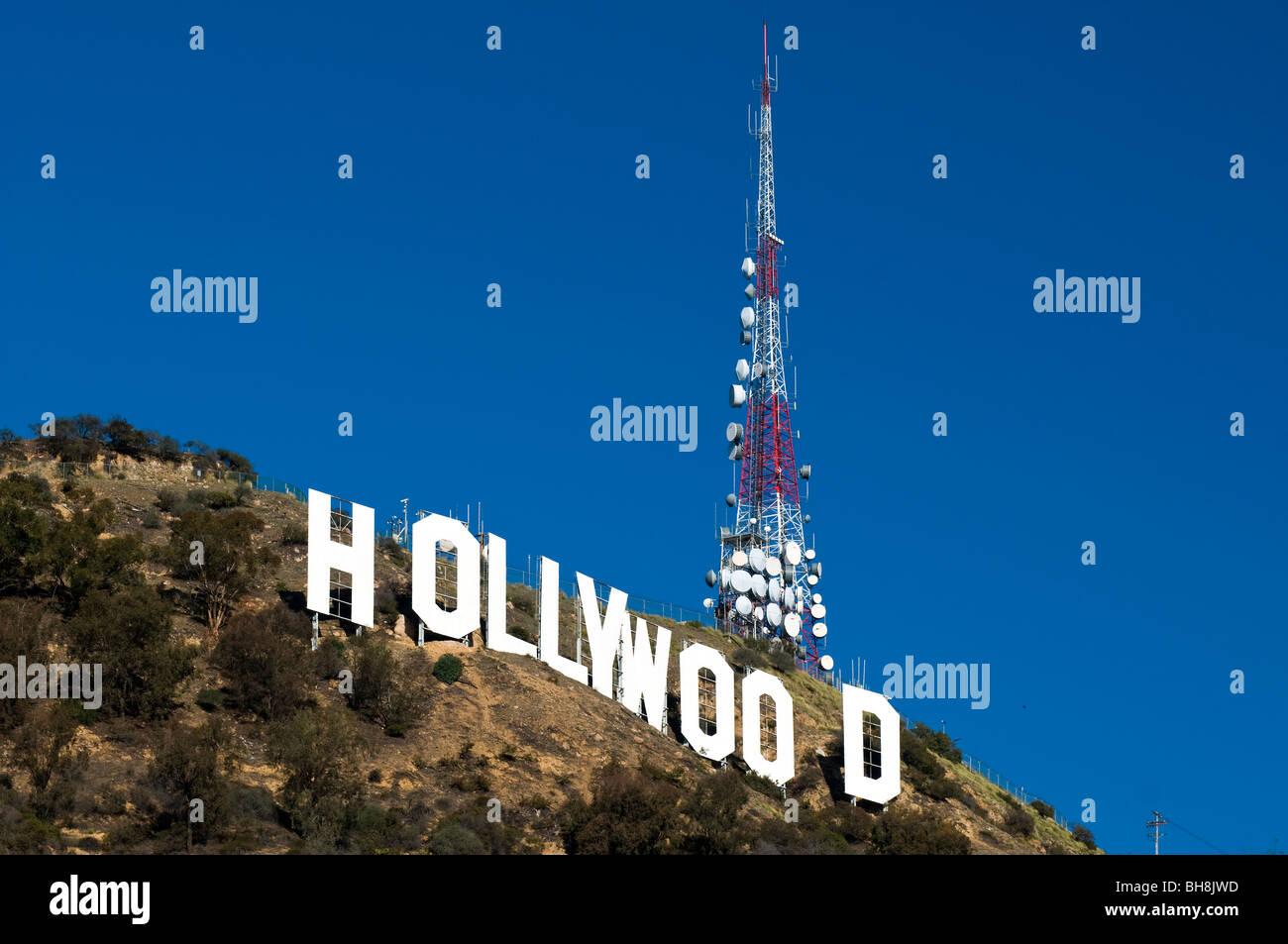 Die weißen Hollywood-Schriftzug, Los Angeles, Kalifornien, USA Stockbild