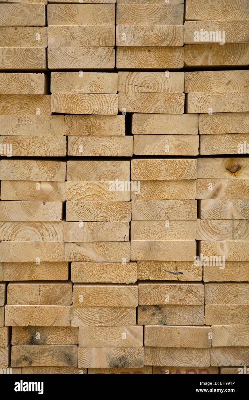 Ende Korn Kiefer Holz Stapel Stockbild