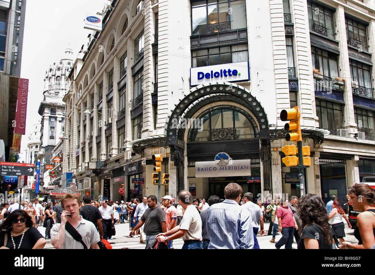 Deloitte Buenos Aires Avenida Avenue Florida Argentinien City Shopping Street Stockfoto