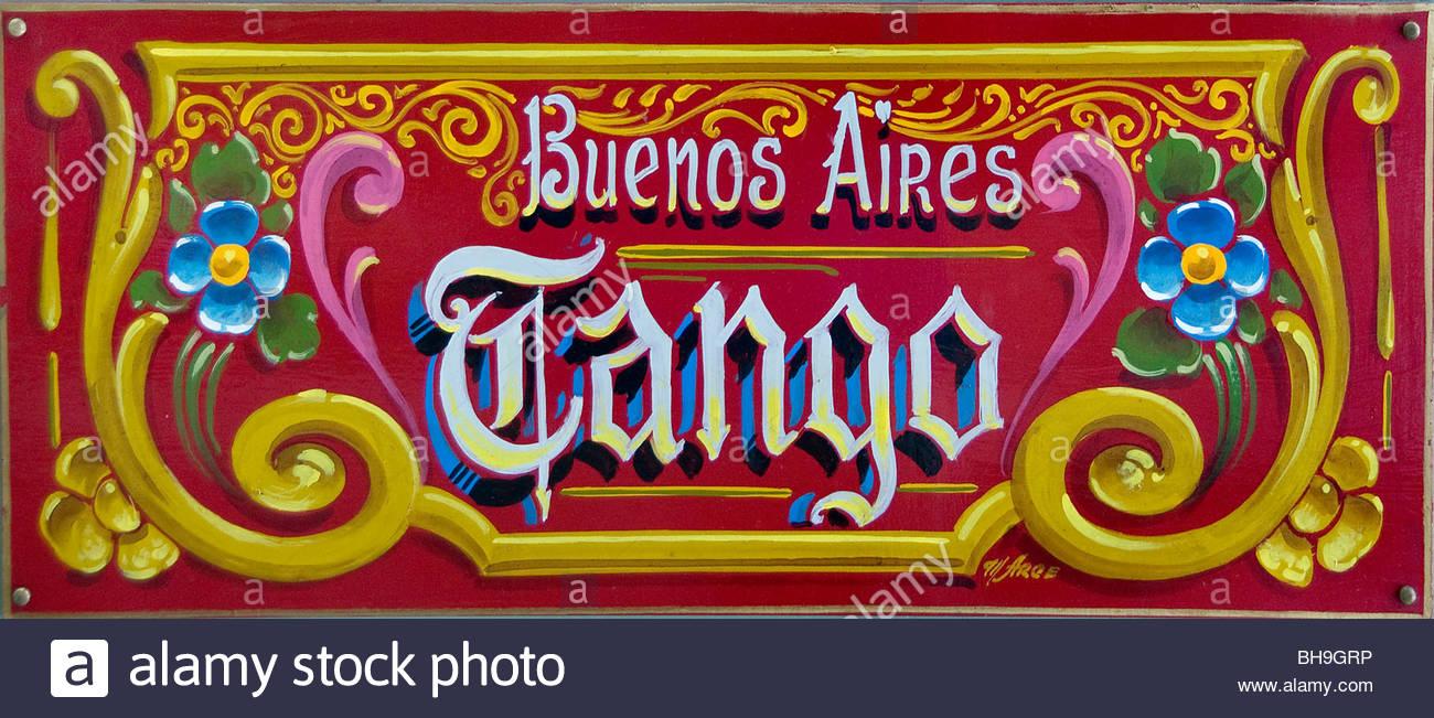 Buenos Aires Avenida Avenue Florida Argentinien Carlos Gardel Stockbild