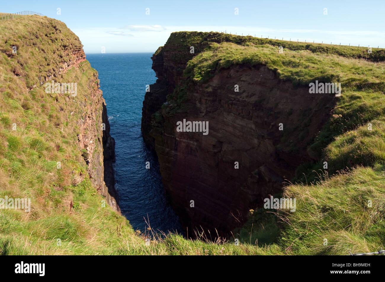 Geo Sclaites Rock Cleft Stockbild