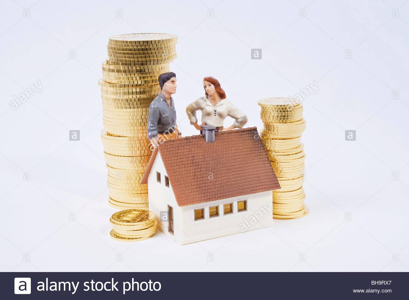 Wohnbaufinanzierung - Finanzierung Immobilie Stockbild