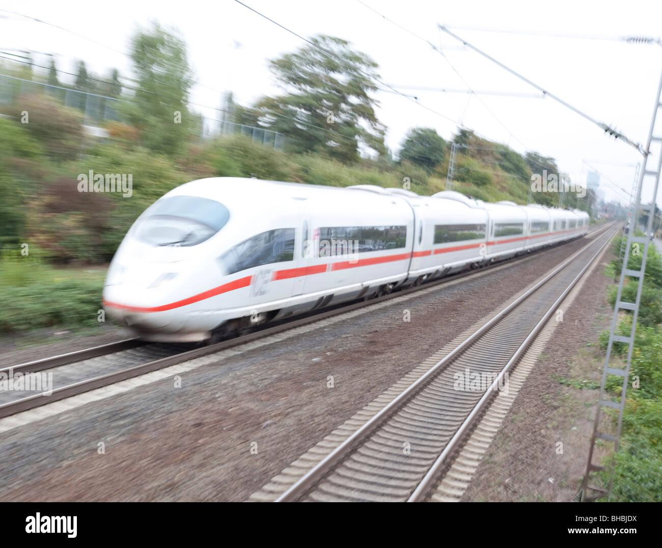 High-Speed schnell Bahn, Deutschland, Europa Stockbild