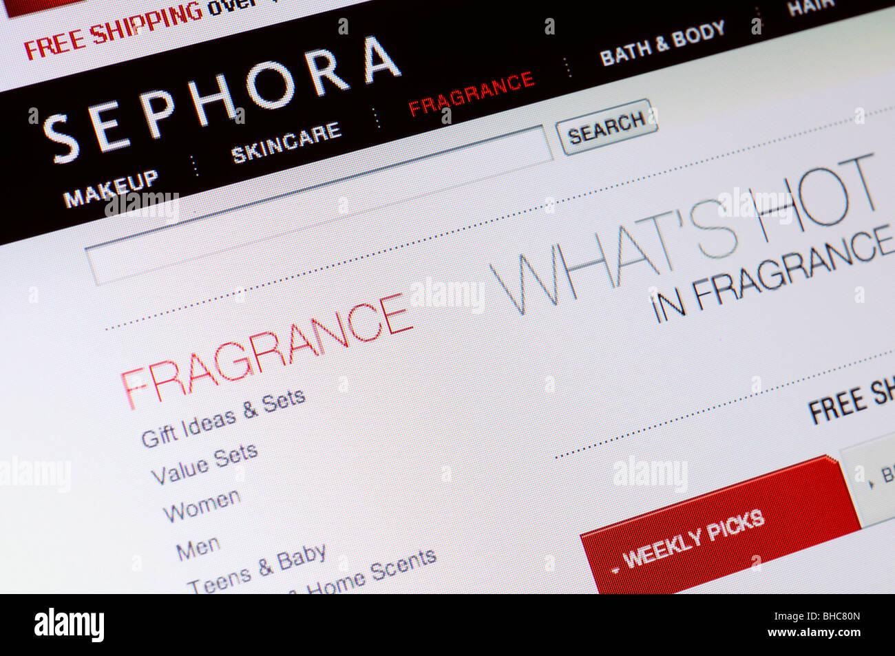 Sephora-Duft-Store-website Stockbild