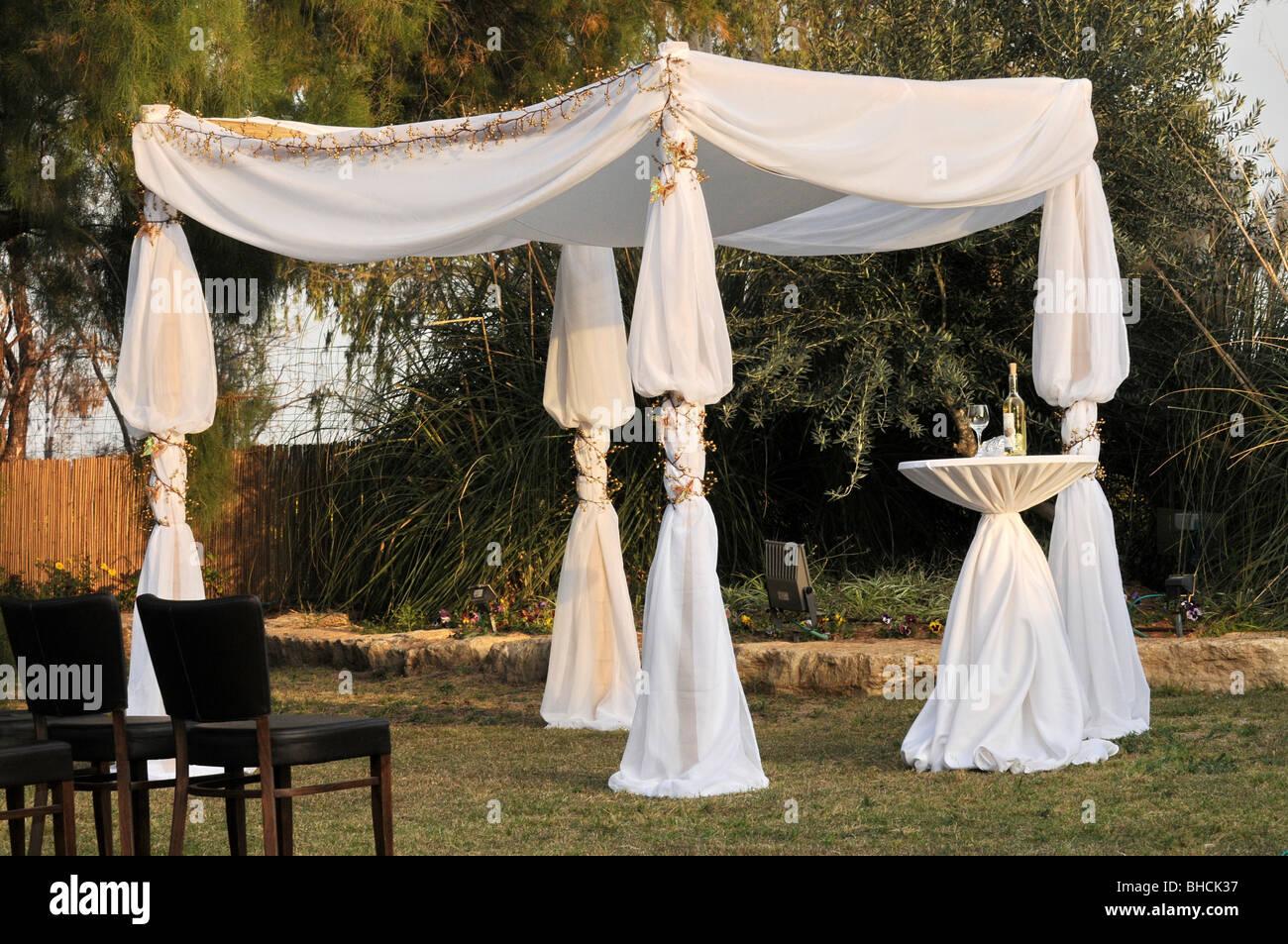 Die Judische Hochzeit Uberdachung Ein Chuppah Stockfoto Bild