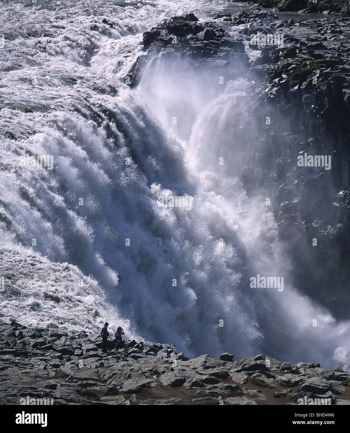 Dettifoss-Wasserfall und Jokulsargljufur Canyon, Island Stockbild